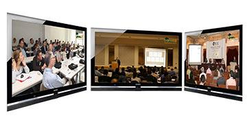 Đa màn hình hiển thị họp trực tuyến